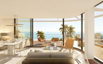Woningen met uitzicht op de Middellandse Zee in Denia Beach